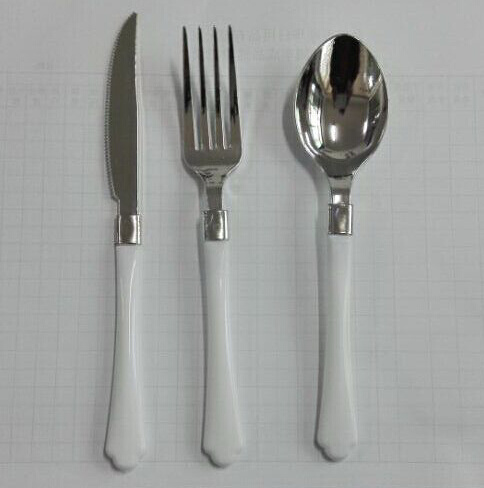 Plastic Silver Coating Cutlery with Plastic Handle pictures & photos