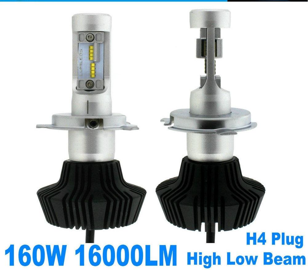 Headlight Kit H11 LED 6500K 160W 16000LM White High Power 2x Low Beam Bulbs