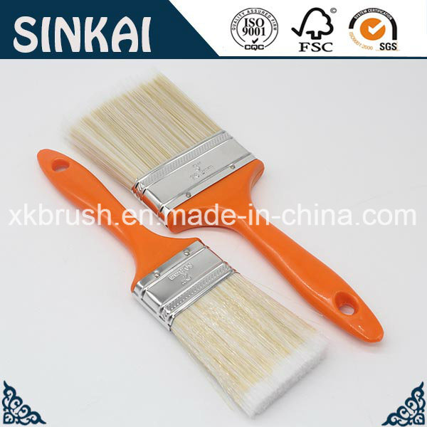 Hollow Filament Painting Brush with Orange Handle