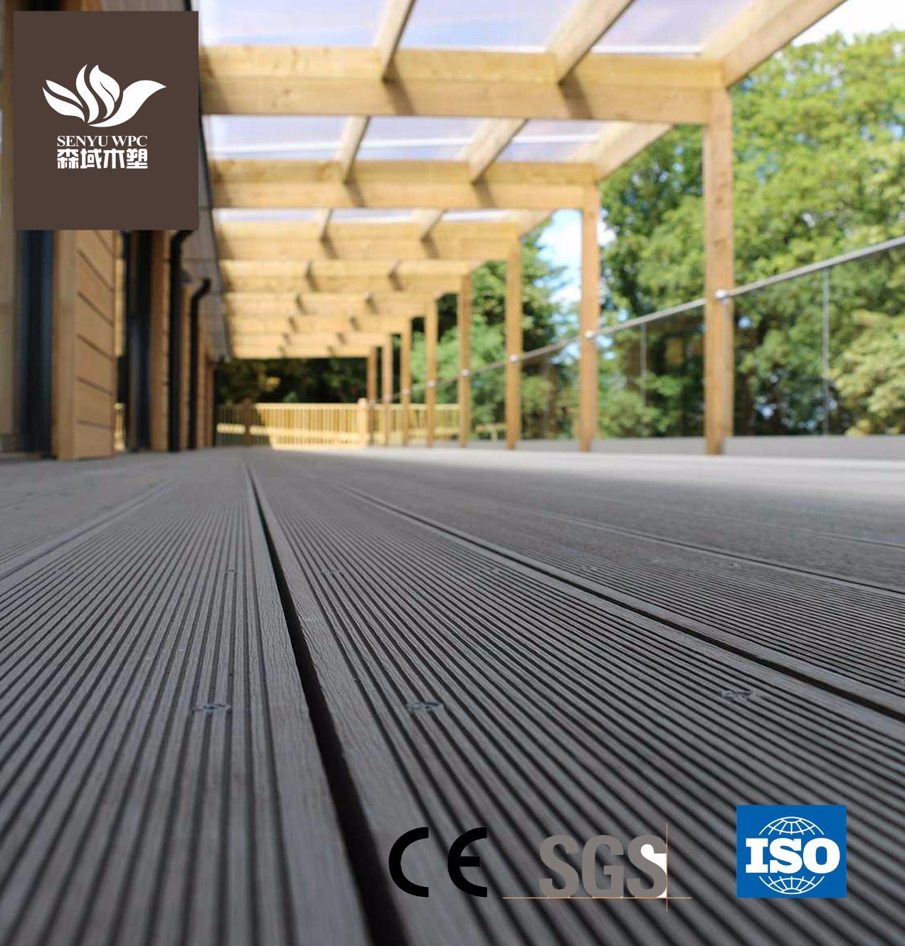 China Wpc Material Wood Plastic Composite Outdoor Flooring Board Sy 01 Decking