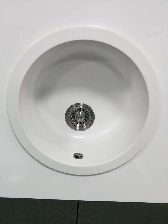 China Best Seller White Single Bowl Granite Quartz Kitchen ...