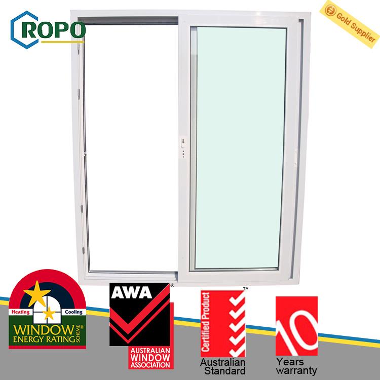 China Energy Saving Upvc Plastic Sliding Glass Door For Homes