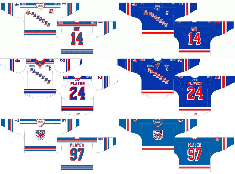 China Ohl Kitchener Rangers Customized Ice Hockey Jersey - China ...