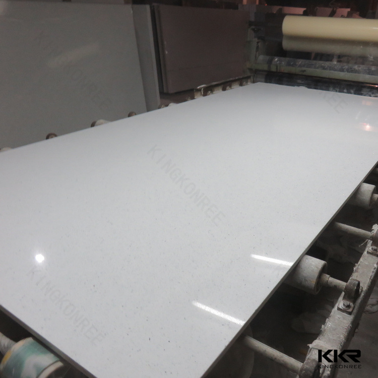 China Sparkle White Quartz Flooring Tile Artificial Quartz Stone