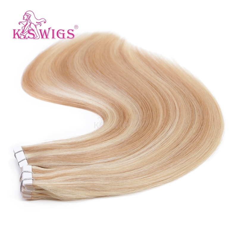 China K S Wigs Hot Sell 100 Indian Tape Hair Human Hair Extensions