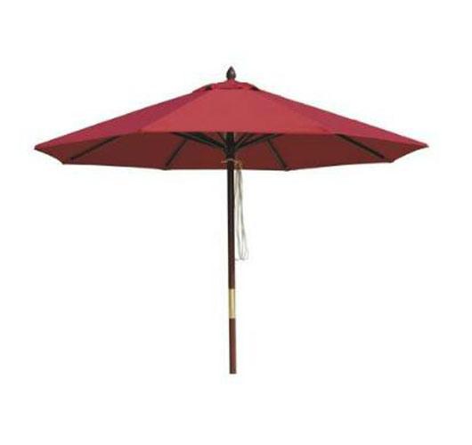 China Wooden Beach Umbrella With