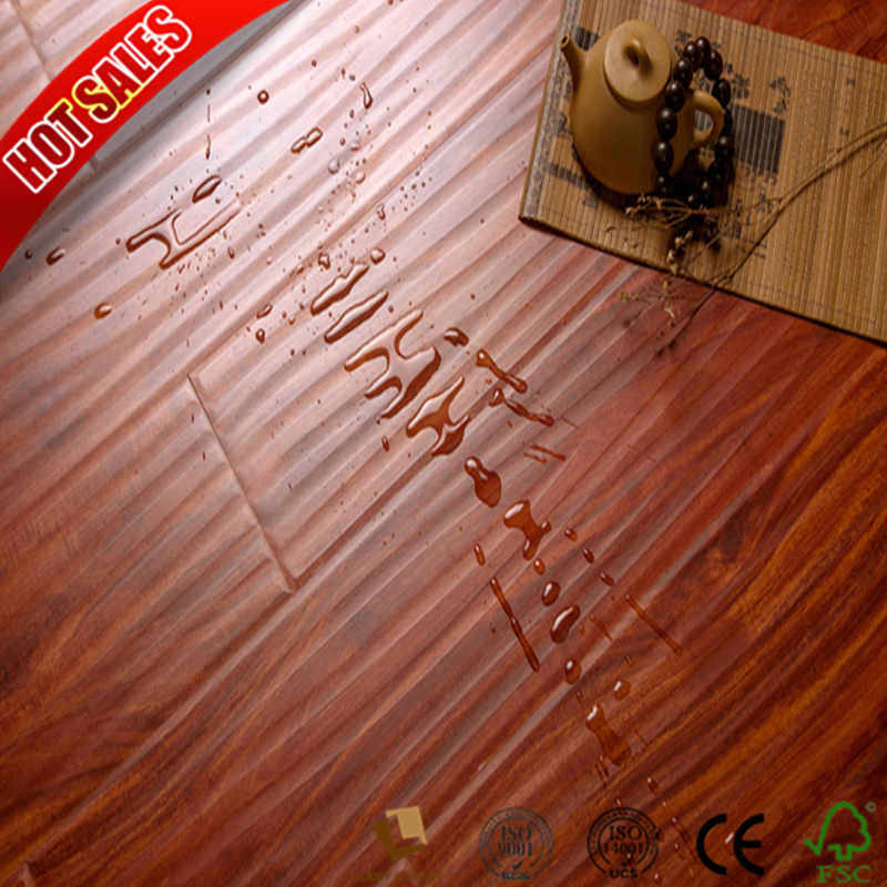China Swiftlock Handscraped Hickory Laminate Flooring Hdf Oak Wood