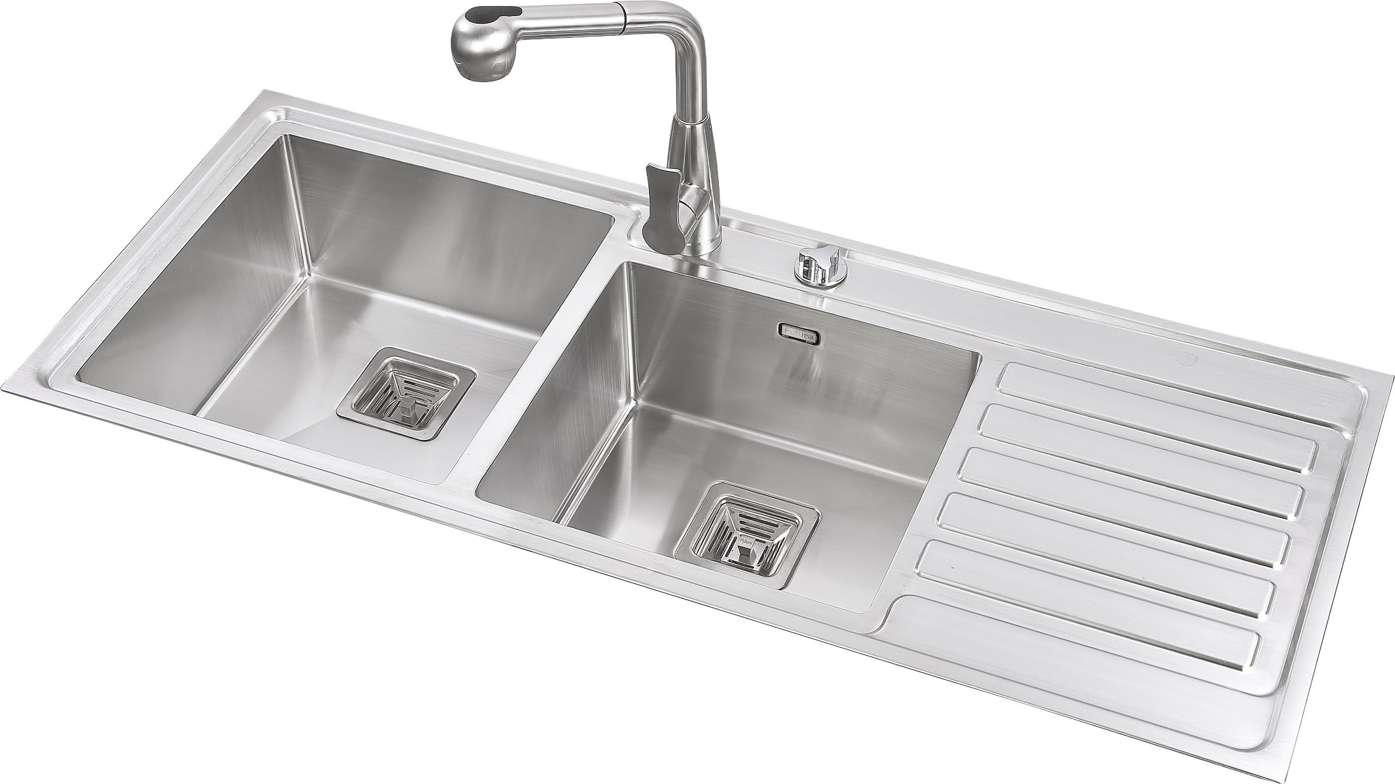China Stainless Steel Double Bowls Handmade Kitchen Sink with