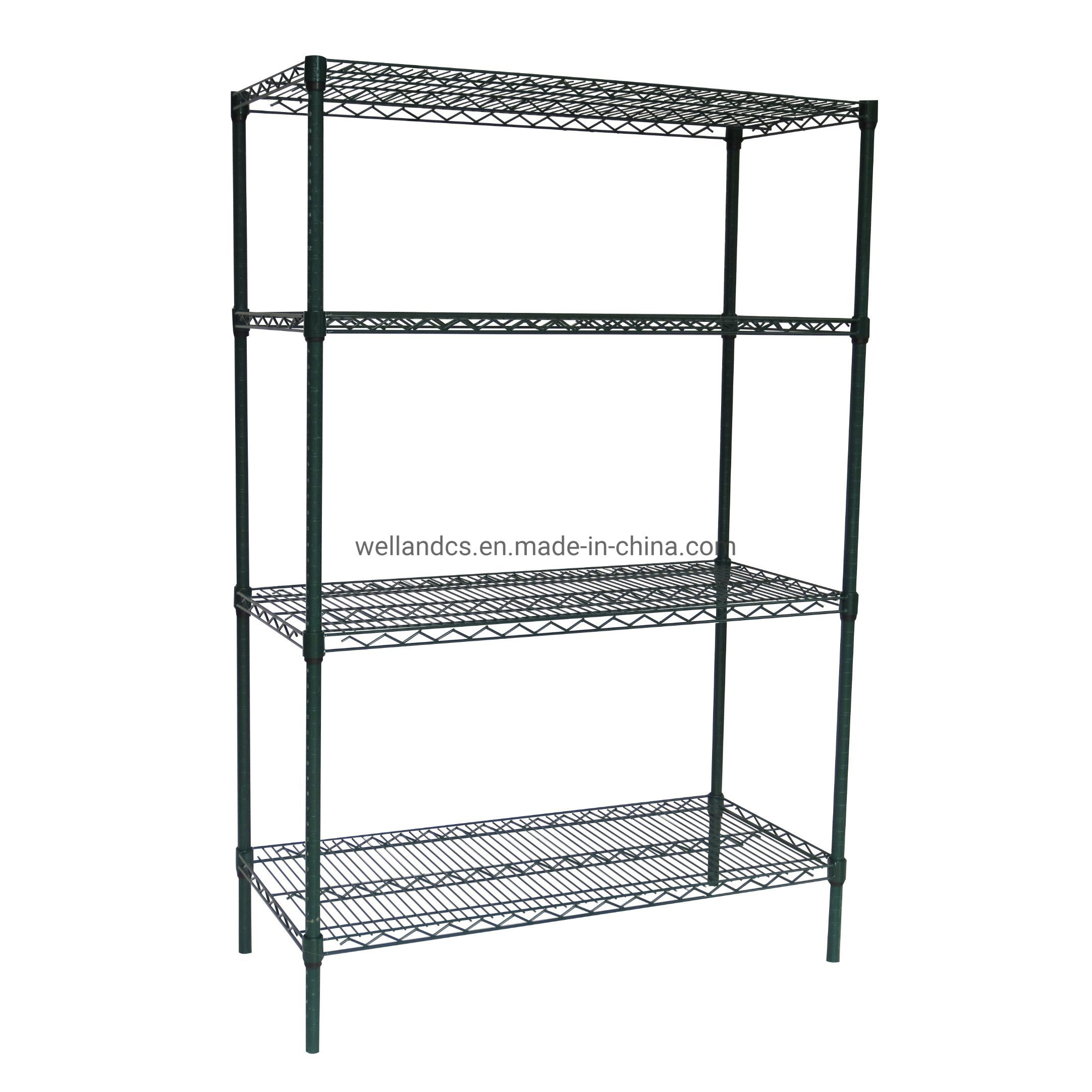 Hot Item Metro 4 Tiers Green Epoxy Coated 18 X 42 Heavy Duty Industrial Storage Wire Shelving