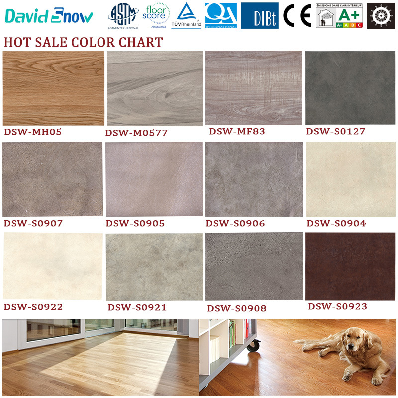 Antique Wood Pattern Vinyl Flooring