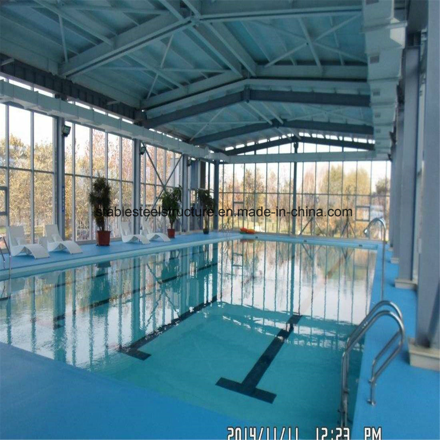 China Prefab Metal Structure Indoor Swimming Pool Bldgs for ...
