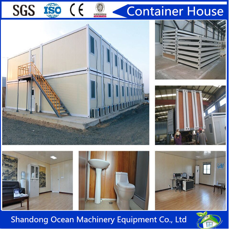 20FT Prefabricated Steel Structure Container House by Sandwich Panel for Living and Warehouse