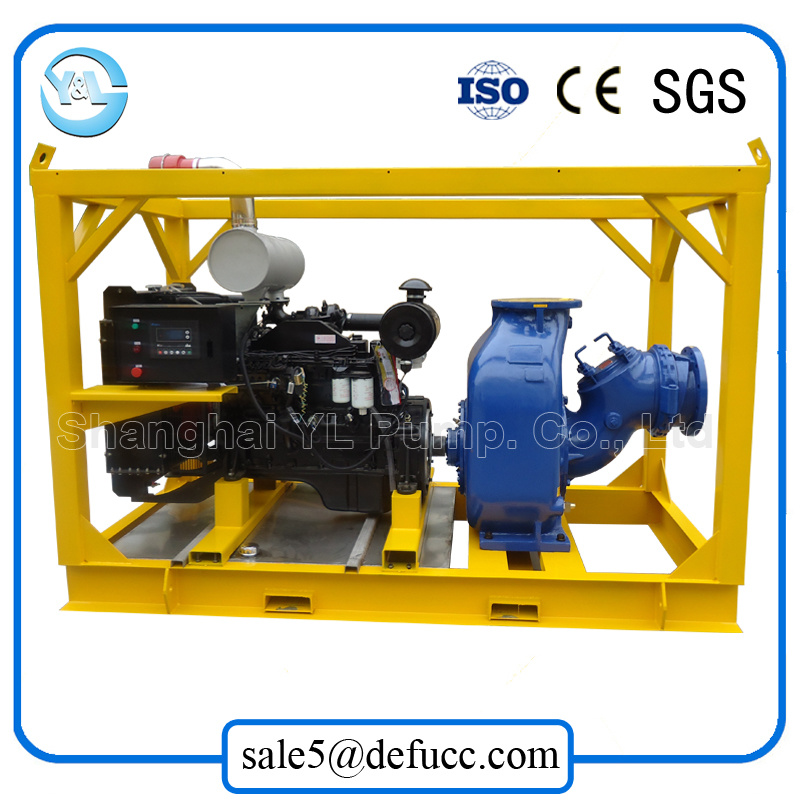 Self Priming Large Volume Diesel Water Pump for Mud pictures & photos