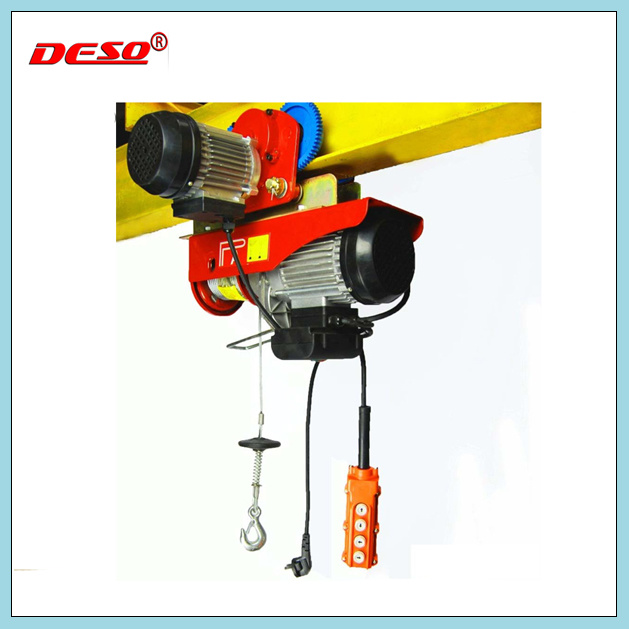 China Portable Mini Electric Motor Lifting Wire Rope Hoist Photos ...