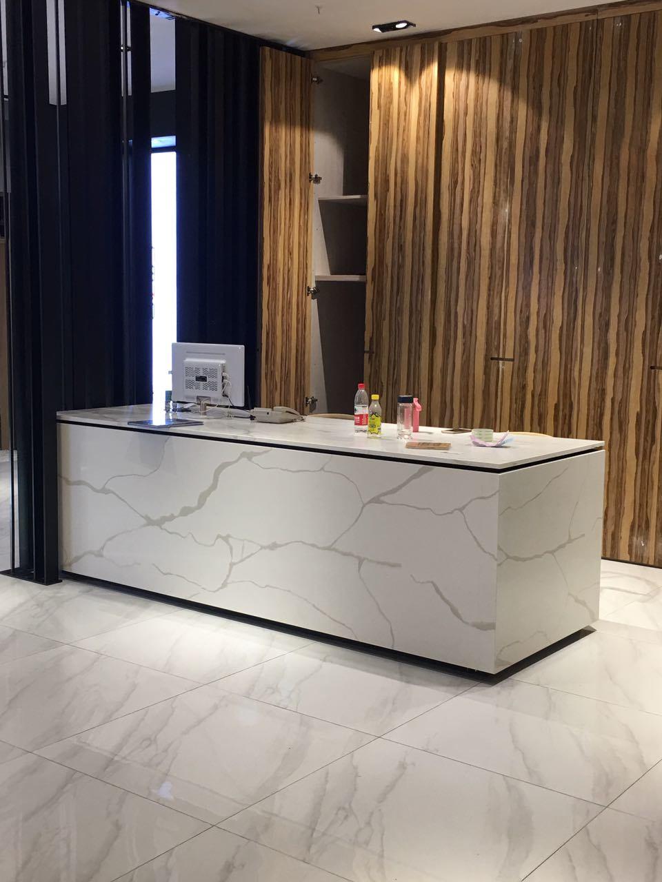Marble Look Calacatta Quartz Worktop