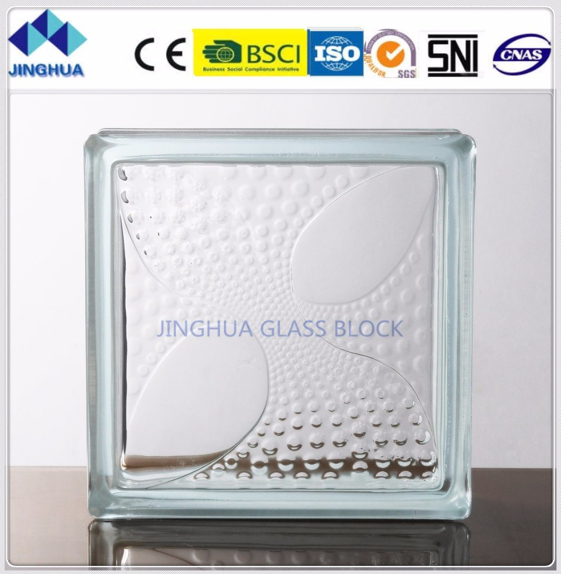 China Jinghua Glass Block Coral Clear 190x190x80mm Glass Brick Block China Glass Block Glass Brick Harga glass block 2021