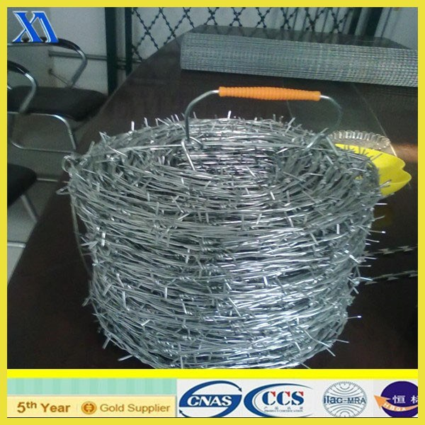 Hot Dipped Barbed Wire for Security