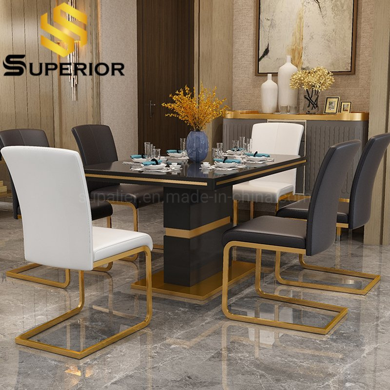 China Argentina Customized Home, Black Dining Room Table Set