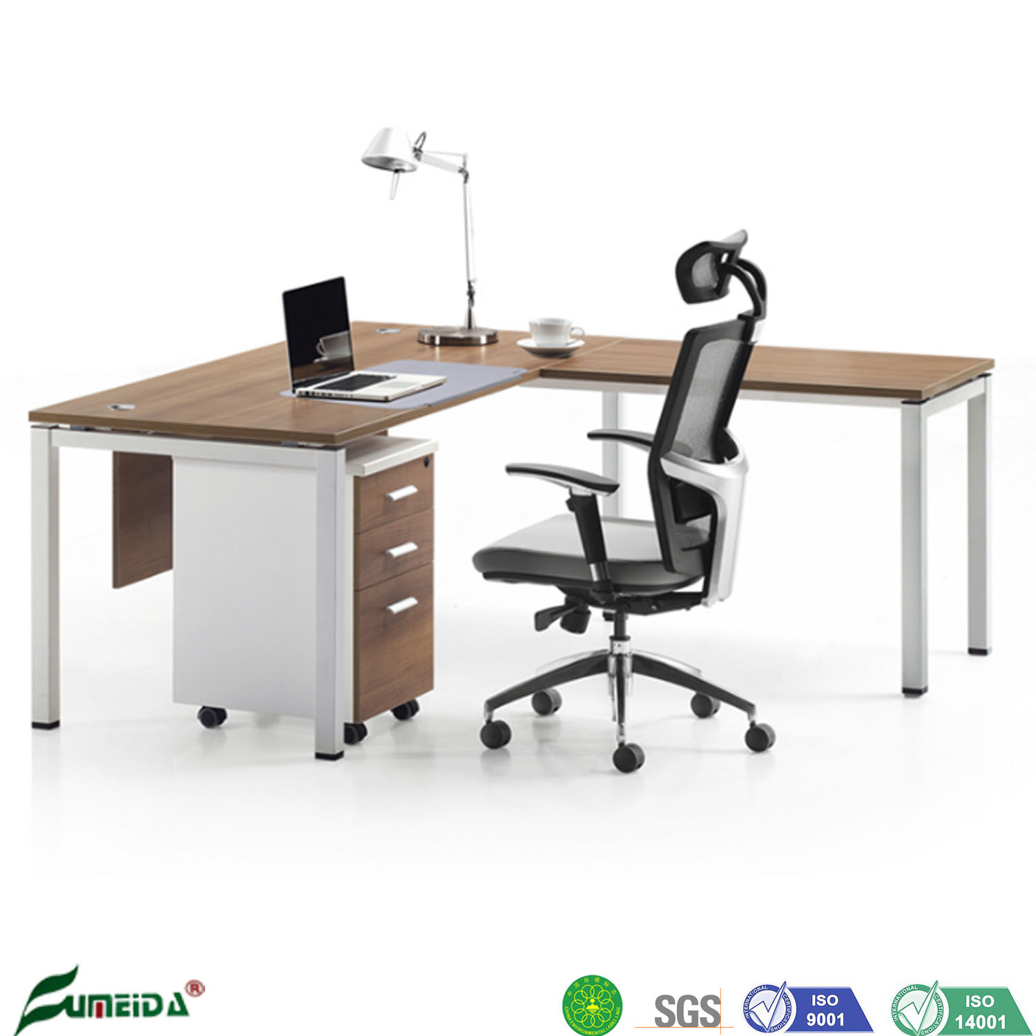 Hot Item L Shaped Modern Office Executive Room Standing Tables For Boss