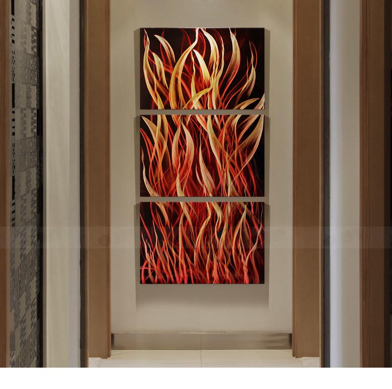 Abstract Metal Art Fire Modern Painting
