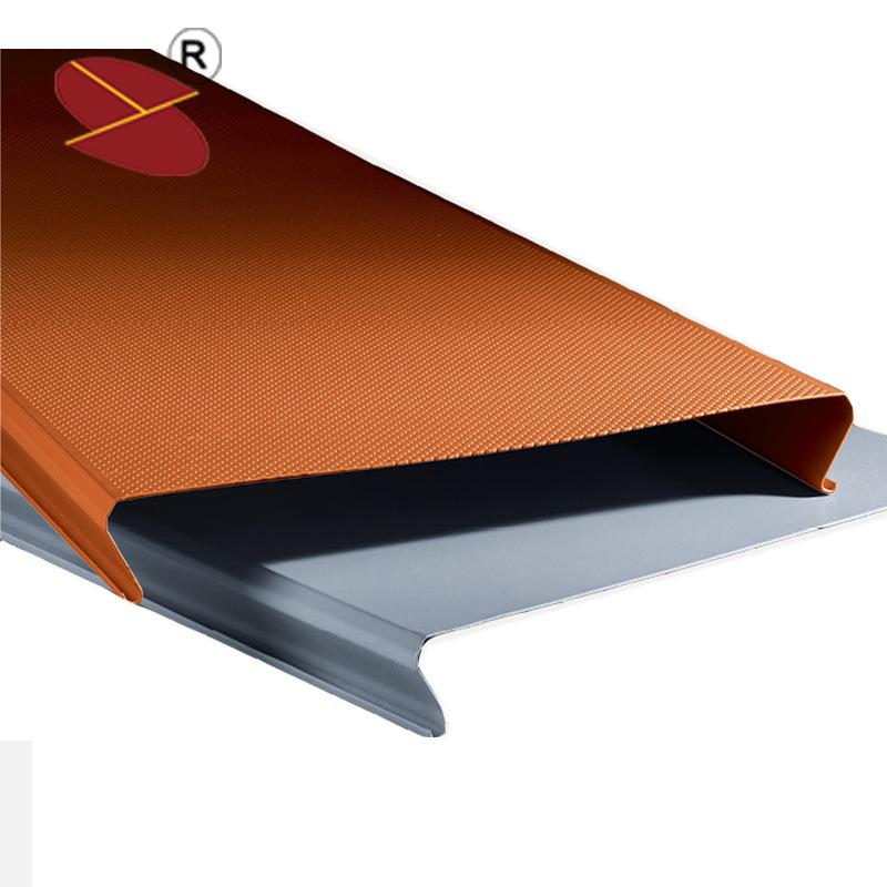 China Roll Coat Wooden Grain Moistureproof Aluminum Ceiling Tile