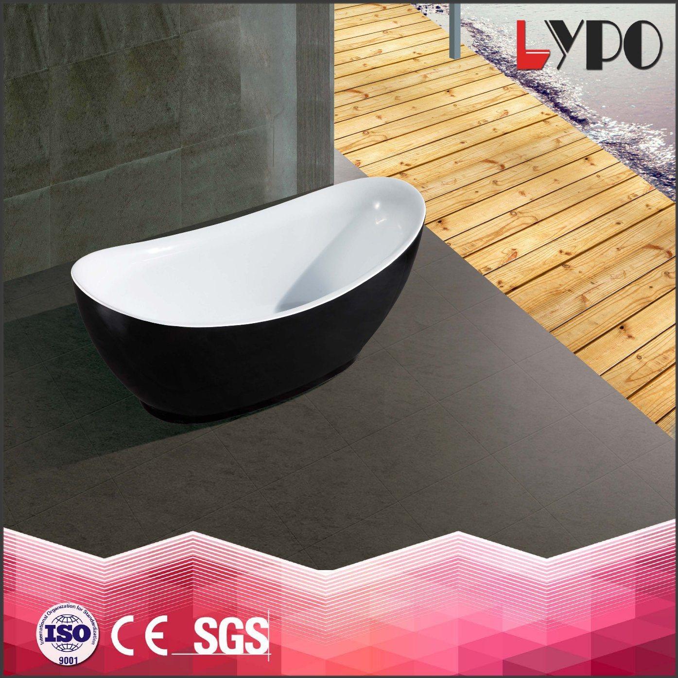 China K-8703A Jet Whirlpool Bath Tub, Acrylic Soaking Free Standing ...