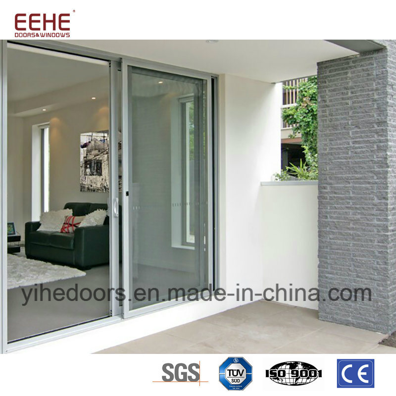 China Aluminum Profile Double Layer Tempered Glass Sliding Door