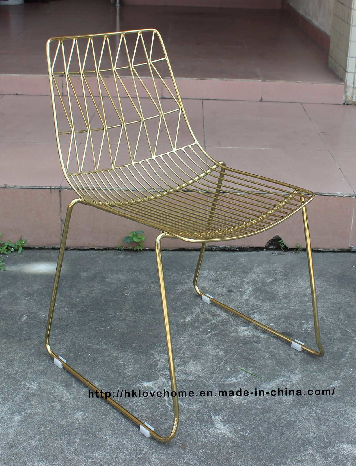 China Metal Classic Leisure Side Wire Dining Restaurant Furniture