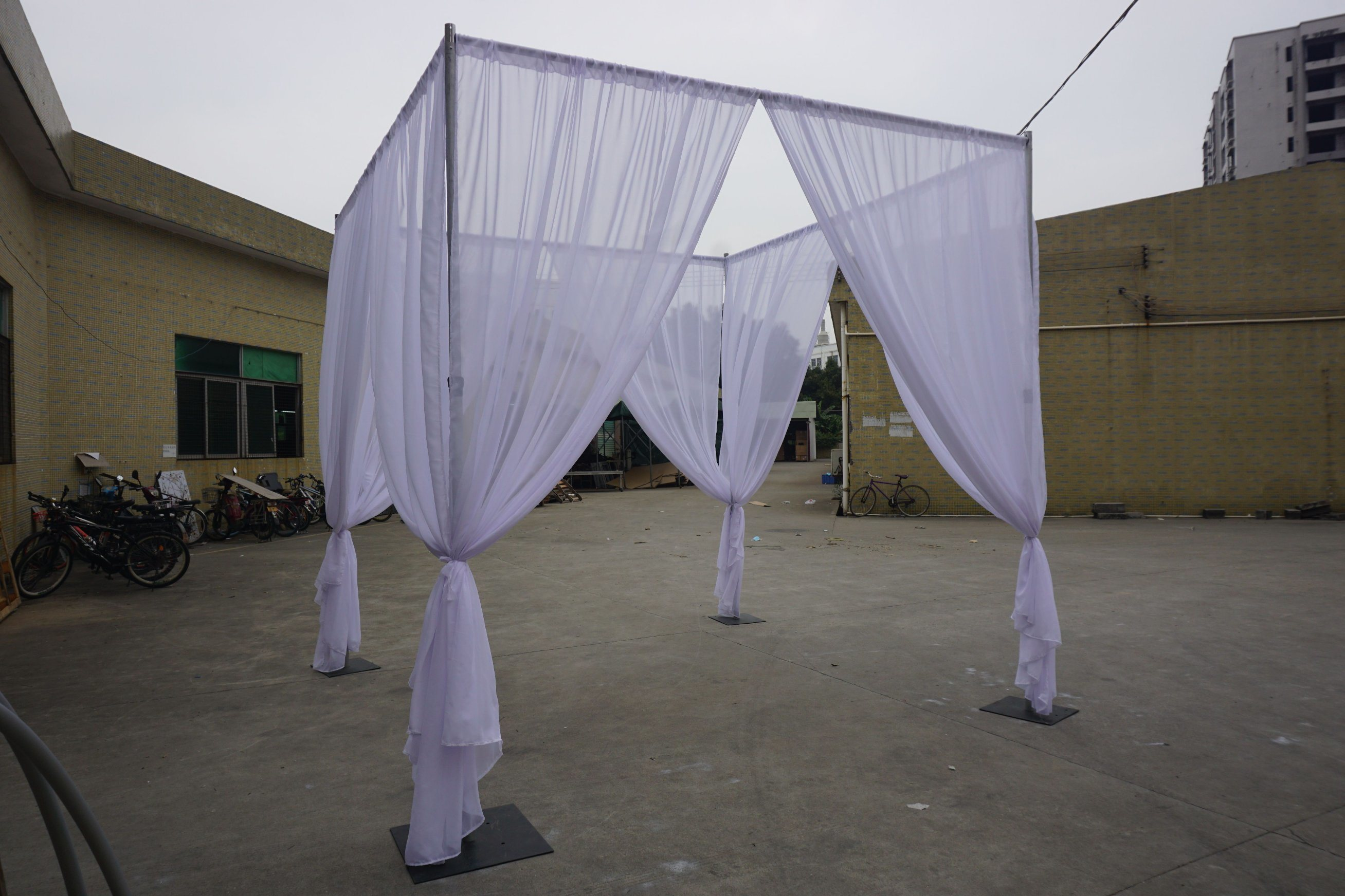China Square Tent Wedding Decoration Pipe And Drape For Outdoor