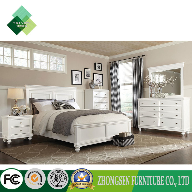 [Hot Item] Professional Custom Made Full King Size White Master Bedroom  Furniture Sets for Adults