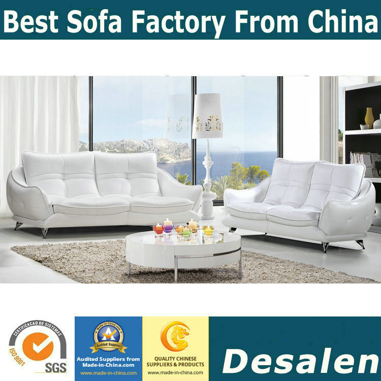 [Hot Item] White Modern Design Leather Sofa, Factory Price Good Quality  (621)
