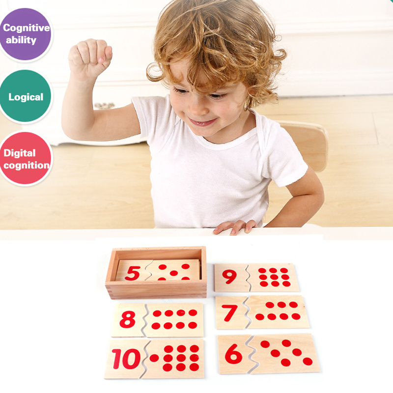 China Children Wooden Montessori Math Number Puzzle Educational Toys ...