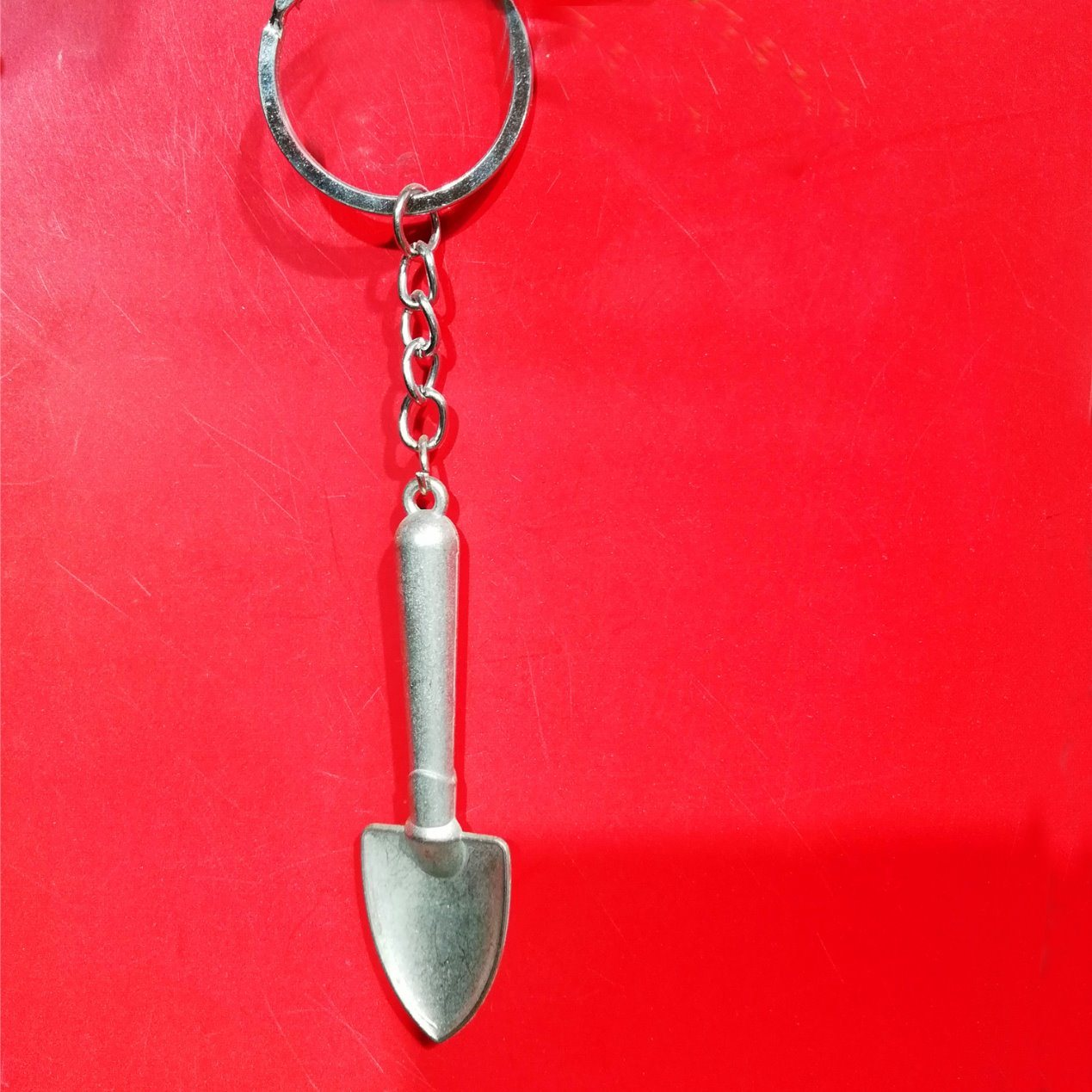 Creative 3D Mini Shovel Working Tool Keychain Keyring Alloy Key Ring Chain Gift