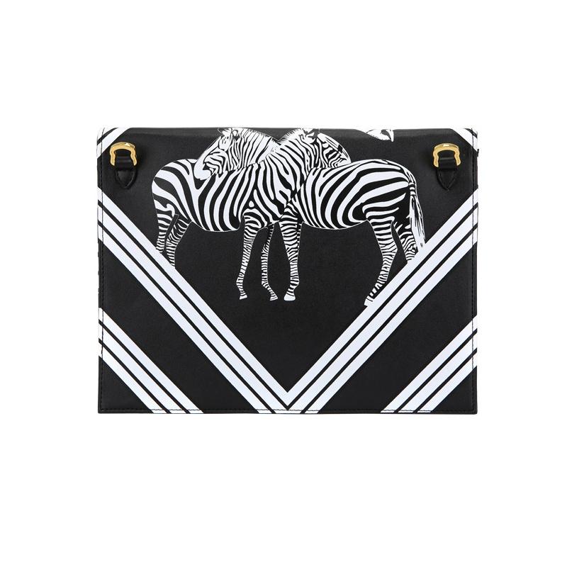 Fashion pu shoulder bag cool zebra print clutch bag wzx1137