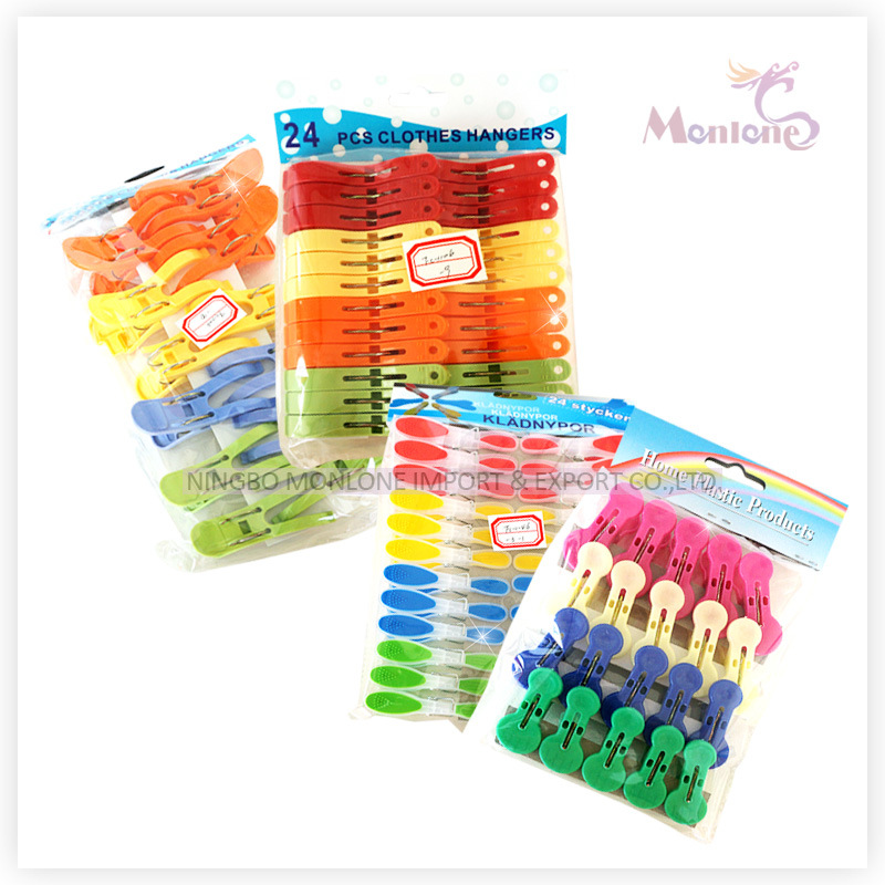 Plastic Pegs, Clothes Pegs, 24PCS Pegs Set