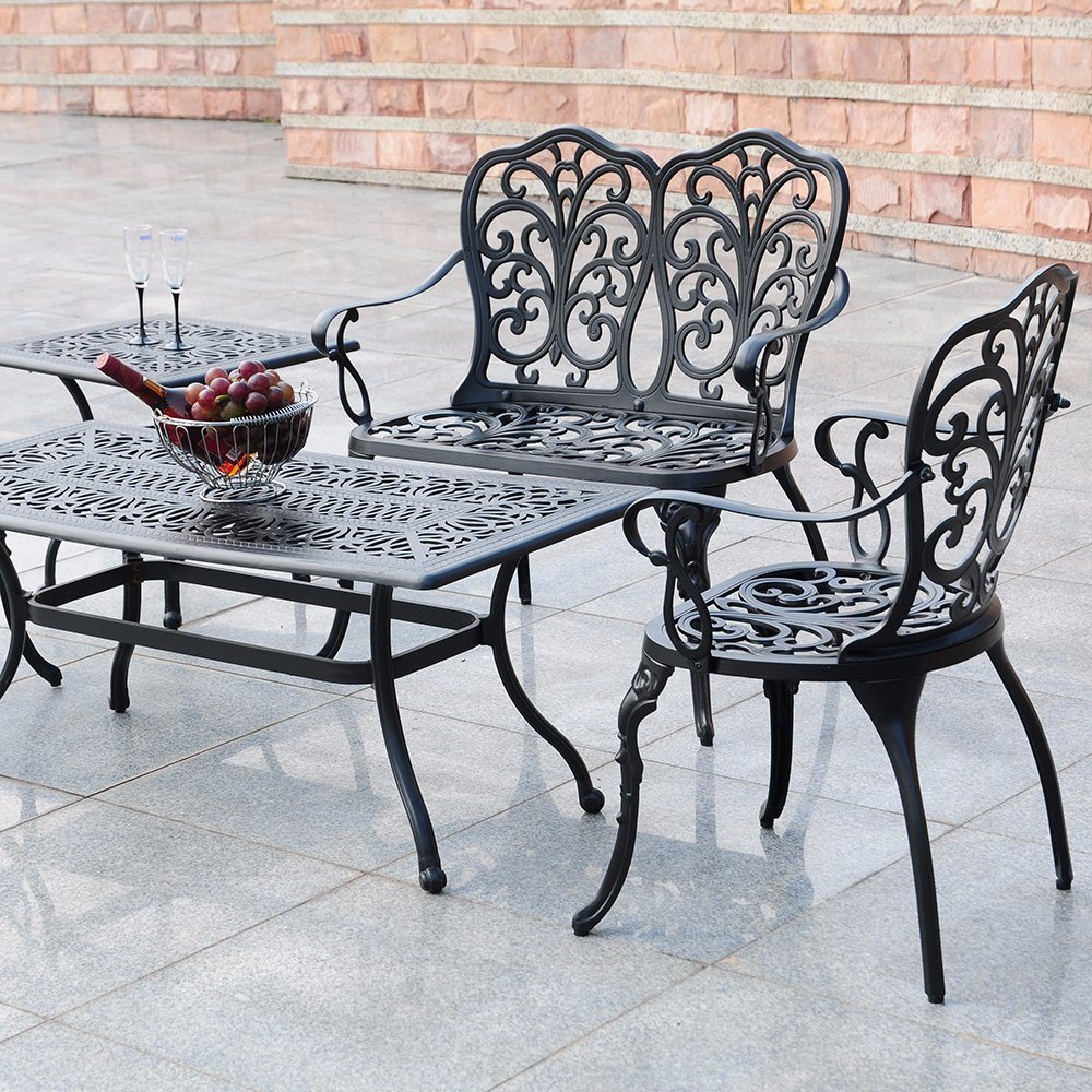 China Outdoor Patio Furniture Lightweight Aluminum Camping Garden Table Chairs