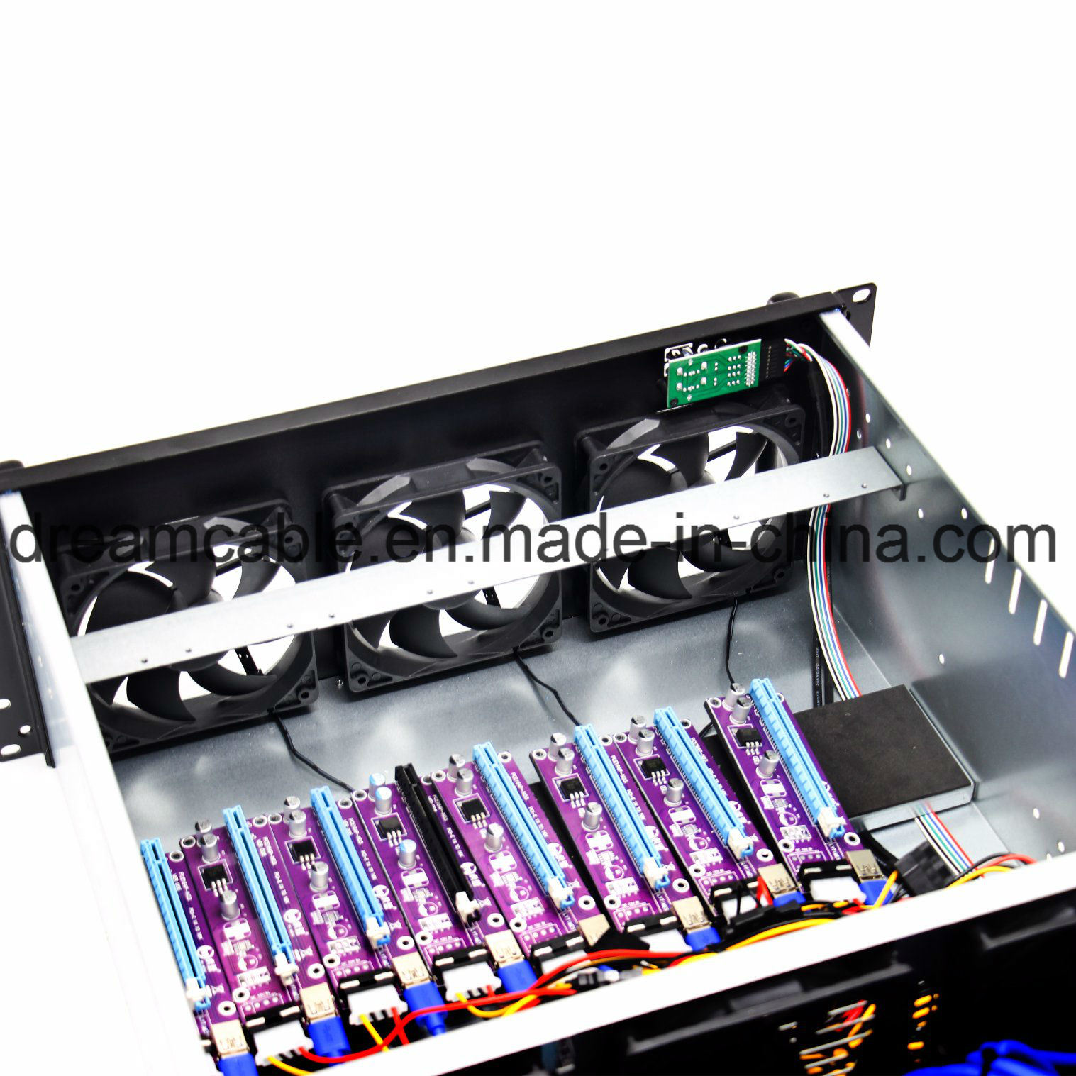 Aio Miner [hot item] high roi humeng cheap 8 gpu 1650w psu 6 fans etherum miner case  for eth/etc