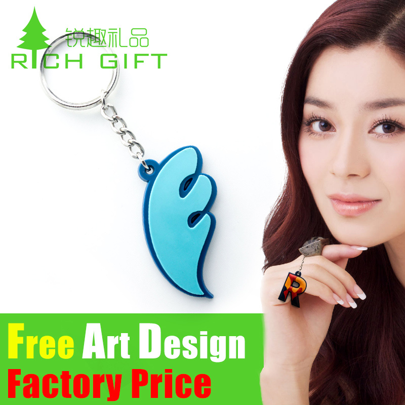 Cartoon Cheap 3D Custom Shaped Soft PVC Keychain with Logo pictures & photos
