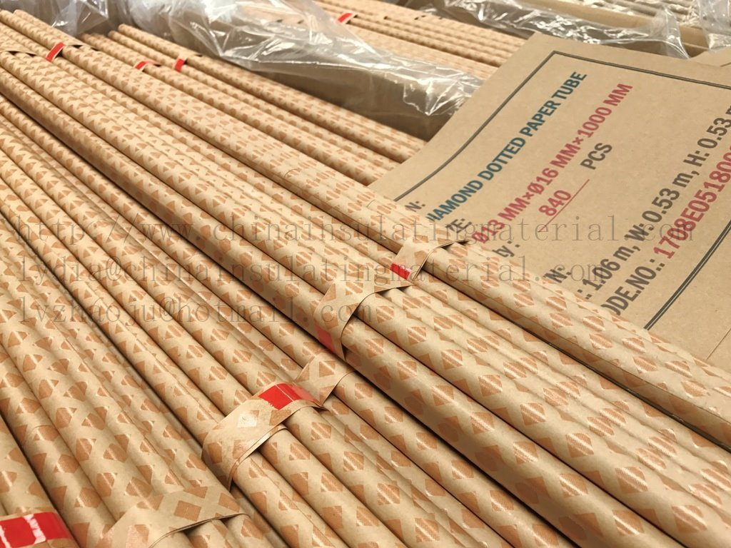 Electrical Insulating Materials : China crepe paper tube for transformer bushing electrical
