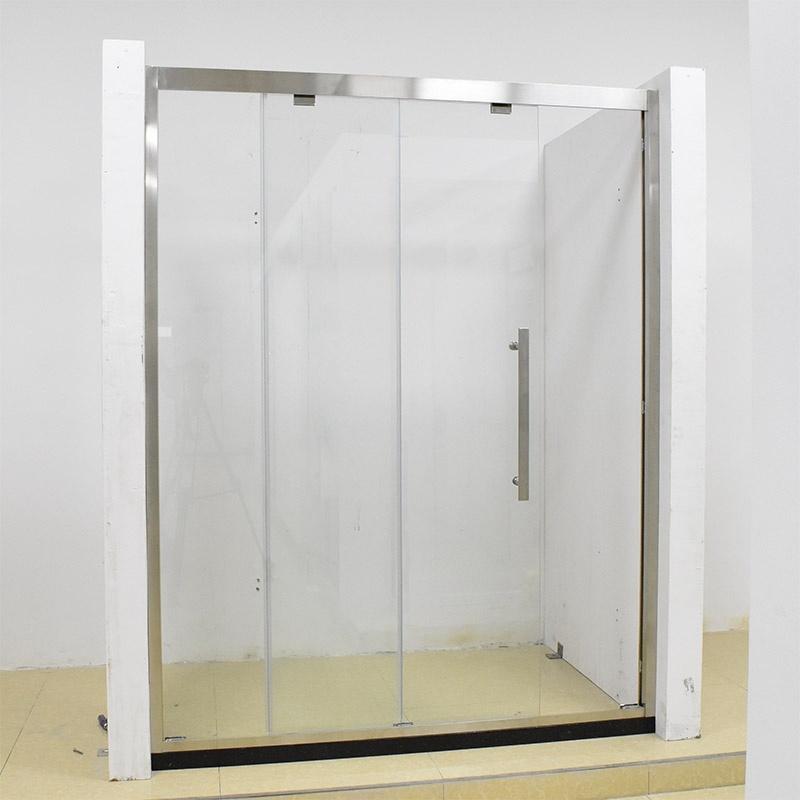 China Shower Enclosure Fully-Framed Silver Effect Frame Shower Doors ...