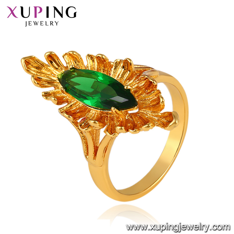 China Fashion Jewelry Simple Metal Alloy 24K Gold Ring Without ...