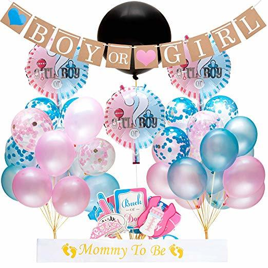 China Umiss Paper Gender Reveal Baby Shower Decoration Kit With Foil