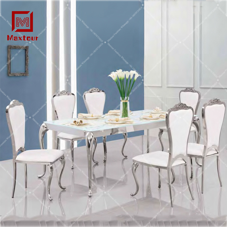 Glass Dining Table Set 6 Chairs Off 65, Sarah Extending Glass Dining Table With 6 Romeo Chairs