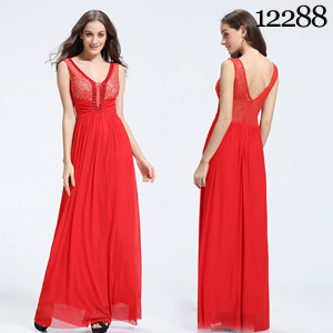 China Exquisite Red Lace And Chiffon Beaded Big Size Women A Line