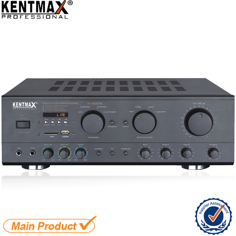 AV-603 Philippines Market 100W Karaoke Power Amplifier with Bluetooth