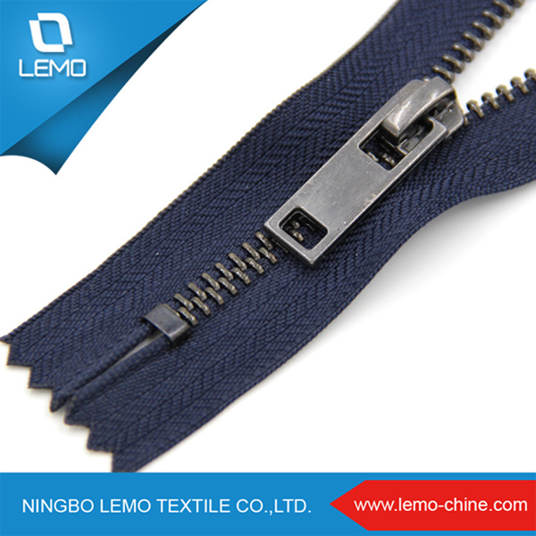 High Polished Various Sizes Exposed Metal Zipper