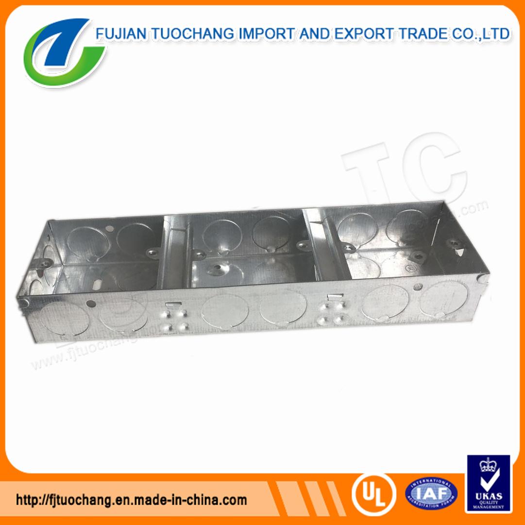 China Triple Gi Switch and Socket Boxes 3*3 Three Gang Photos ...