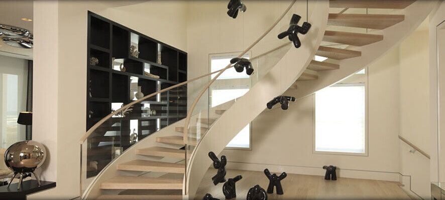 DIY Easy Installation Design Stainless Steel Glass Staircase With Tempered  Glass Railing And Solid Wood Tread