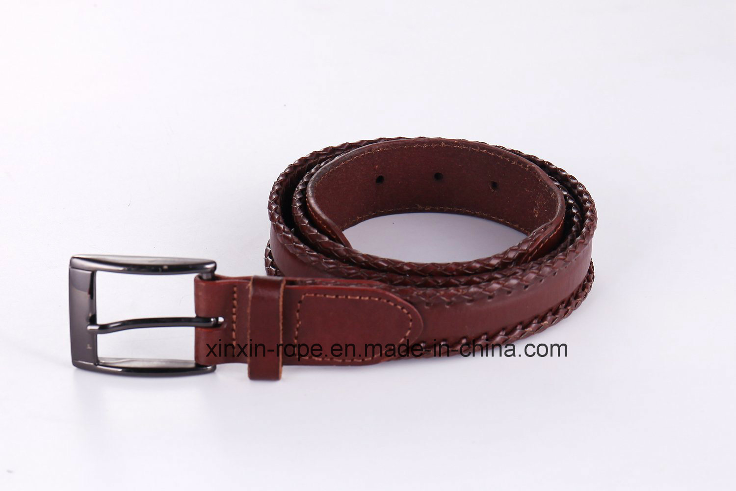 Classical Unisex Lether Qualified Pin-Buckle Woven Belt