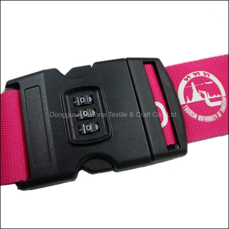 Wholesale Good Price Custom Logo and Color Polyester/Nylon/PP Luggage Strap/Belt